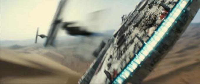 Millennium Falcon vs Tie Fighters!!