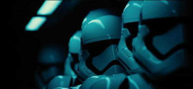 I caschi degli Storm Troopers.