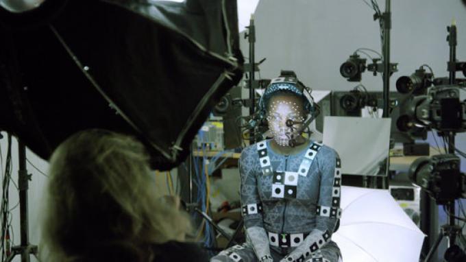 Lupita Nyong'o sul set