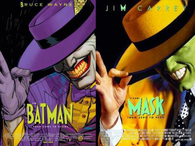 BATMAN #40 ispirata a THE MASK, disegno di Dave Johnson