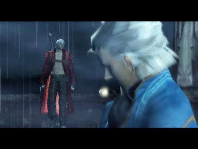 Dante (rosso) e Vergil (blu)