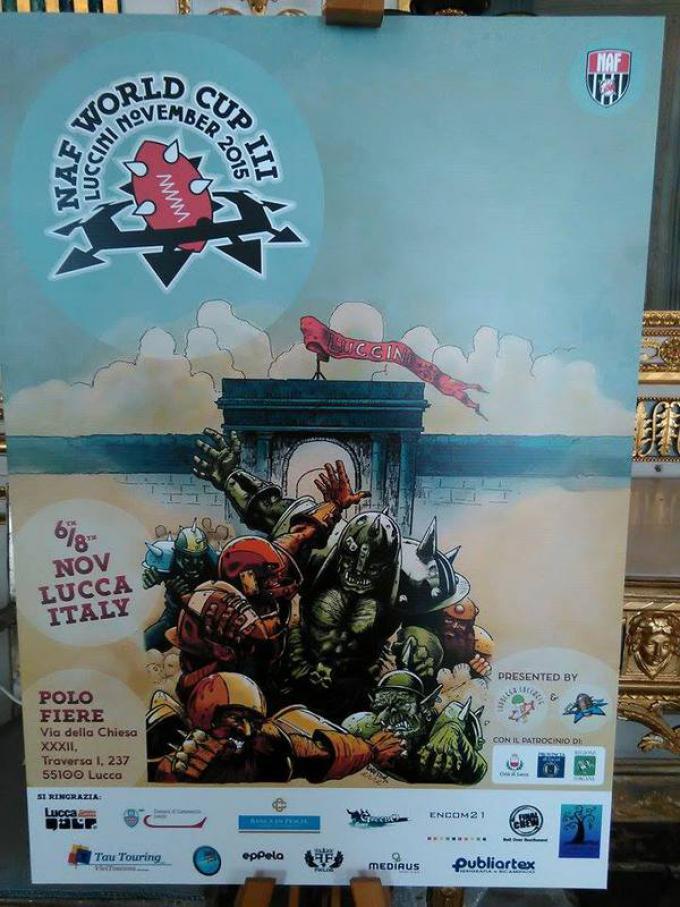 Poster ufficiale terzo Campionato Mondiale di Blood Bowl