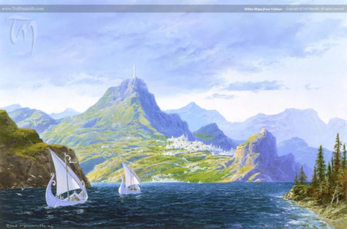 White Ships from Valinor - ©Ted Nasmith All Rights Reserved