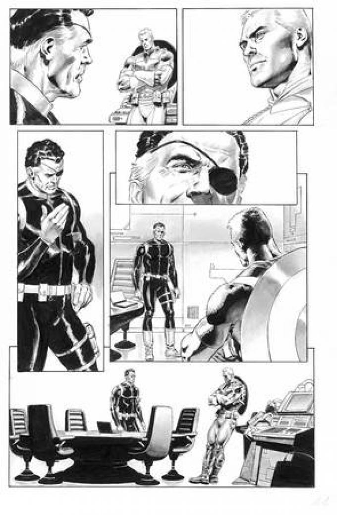 Nick Fury a colloquio con Cap