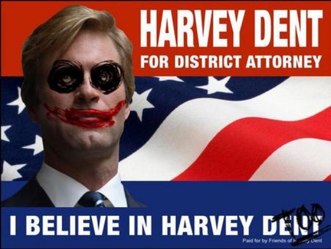 Anche Joker fa il tifo per Harvey Dent