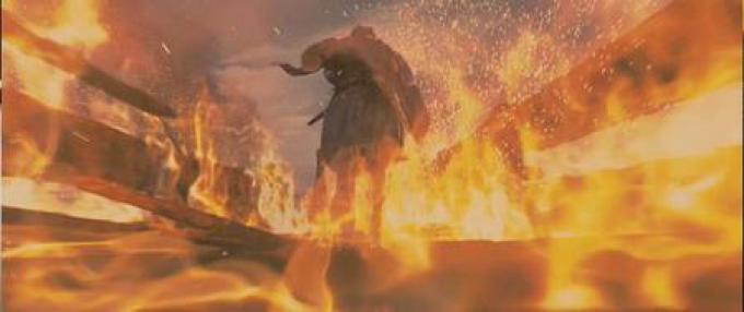 Un muro di fuoco dalle fauci del drago