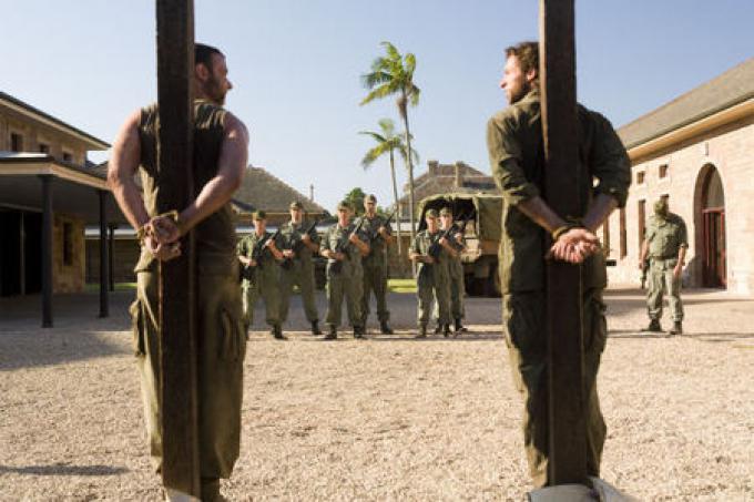 Liev Schreiber (Victor Creed/Sabretooth) e Hugh Jackman (Logan/Wolverine)