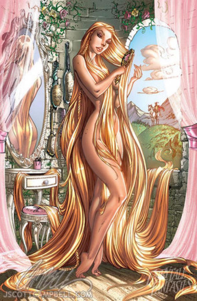 Rapunzel vista da J.S.Campbell