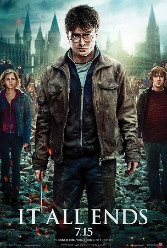 Harry, Ron e Hermione in battaglia