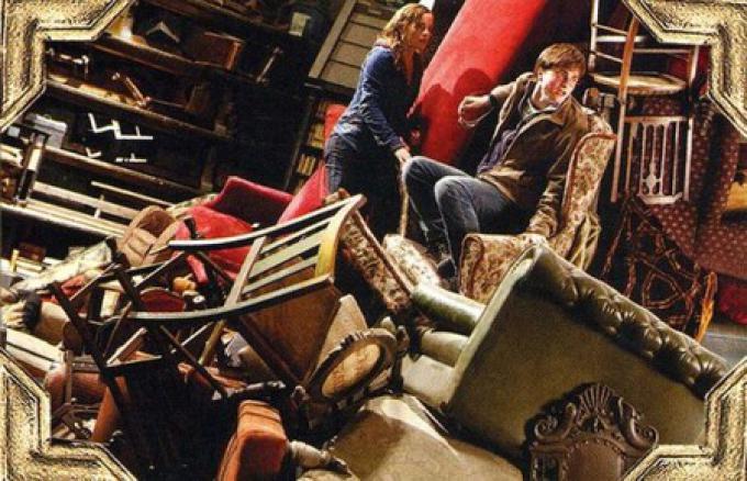 Harry e Hermione nella stanza delle necessità.
