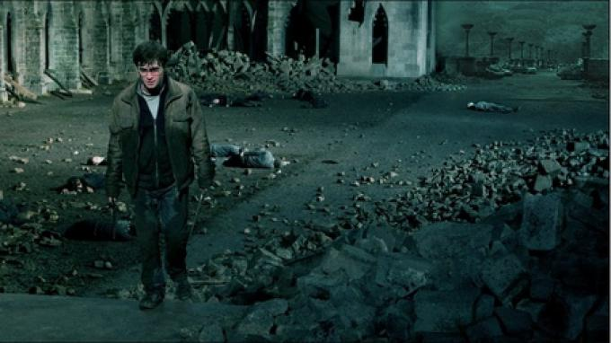Harry Potter (Daniel Radcliffe) durante la Battaglia Finale?