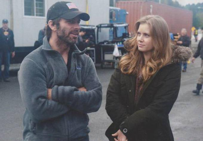 Zack Snyder e Amy Adams sul set