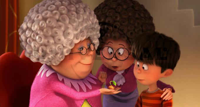 Ted (Zac Efron) con la mamma e la nonna