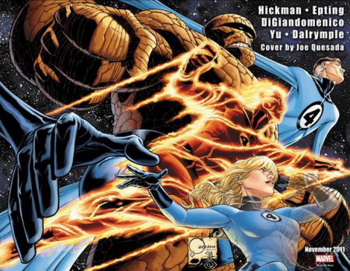 Fantastic Four #600, cover di Joe Quesada.