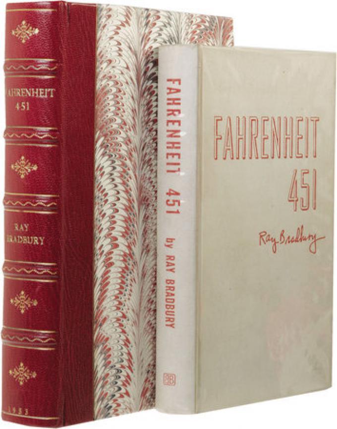 prima edizione del 1953 di Fahrenheit 451 di Ray Bradbury, autografata, quotata 15.535 $.