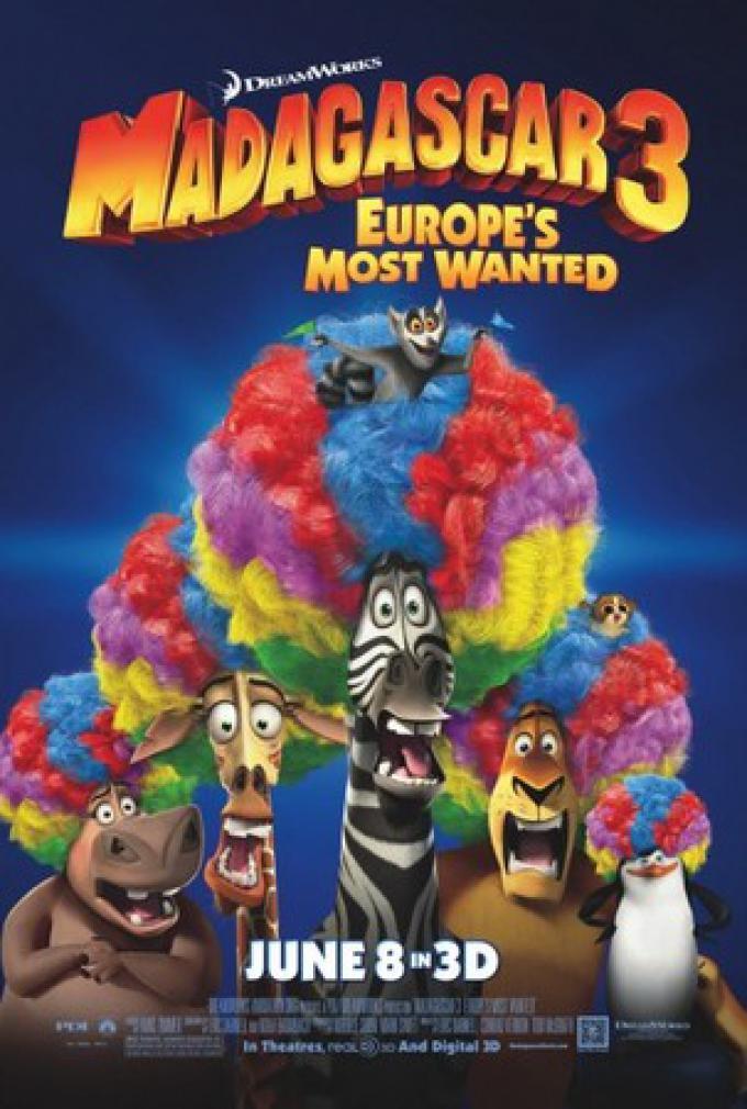 Madagascar 3 - Ricercati in Europa, il poster