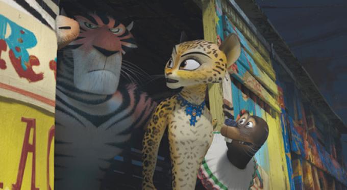 Madagascar 3: Vitali la tigre, Gia il giaguaro e Stefano il leone marino.