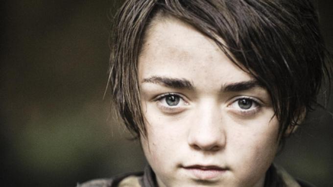 Arya Stark (Maisie Williams), fotografata da Helen Sloan.