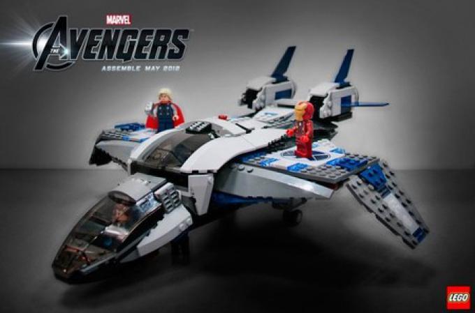 Il quinjet di LEGO Avengers