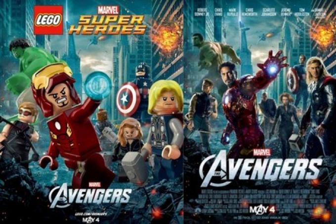 La replica del poster in versione LEGO