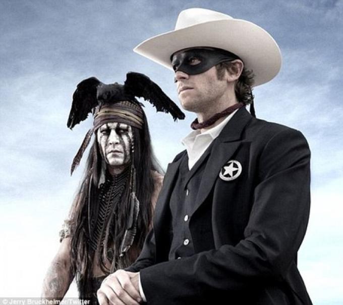 Johnny Tonto Depp e Armie - The Lone Ranger - Hammer