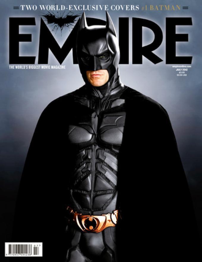 Copertina di Empire con Batman (Christian Bale)