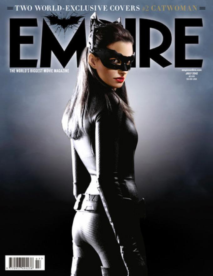 Copertina di Empire con Catwoman (Anne Hathaway)