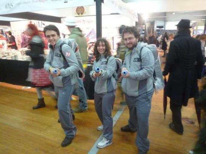 Immancabili le delegazioni del gruppo The Real Ghostbusters