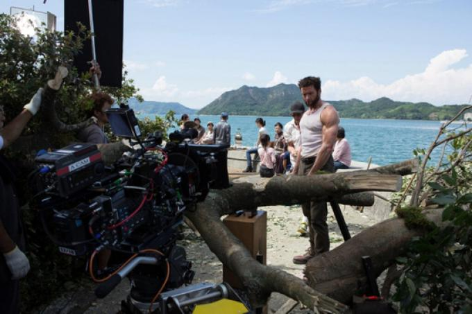 Hugh Jackman sul set di The Wolverine