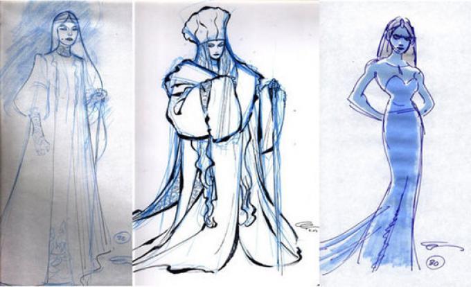 The Snow Queen, primi concept art