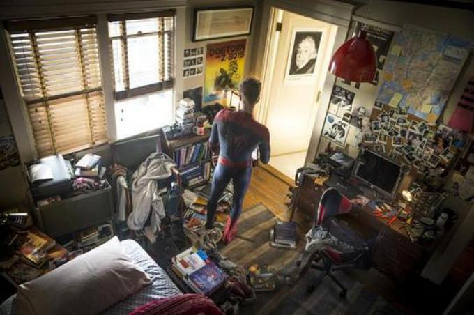La camera da letto di Peter Parker