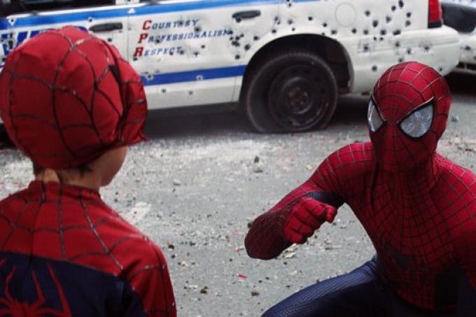 Spider-Man e un piccolo fan