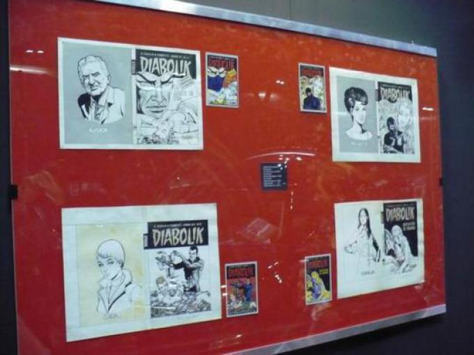 La mostra su Eva Kant: Tavole originali di Diabolik