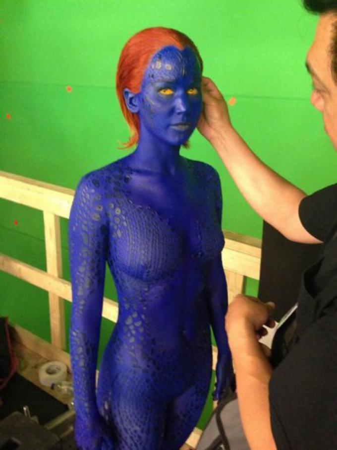 Jennifer Lawrence al trucco