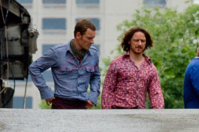 Scatti rubati dal set: James McAvoy e Michael Fassbender a Montreal