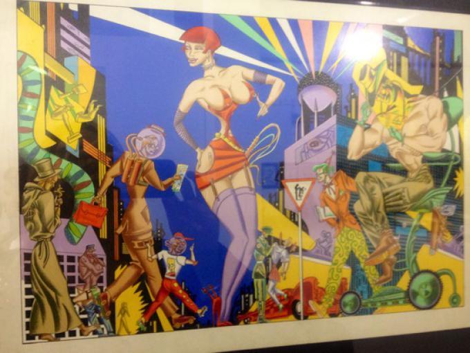 Building Comics - Giorgio Carpinteri - Copertina Playboy tedesco