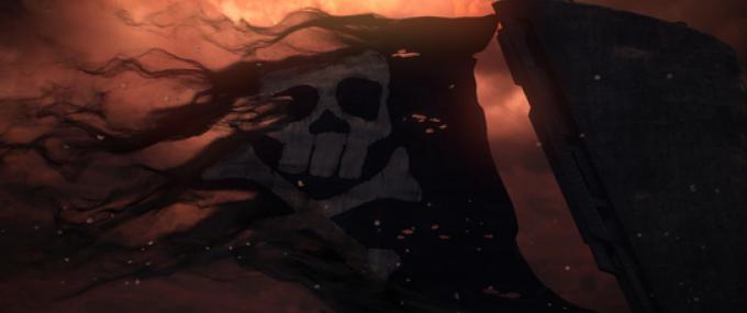 Il Jolly Roger sull'Arcadia