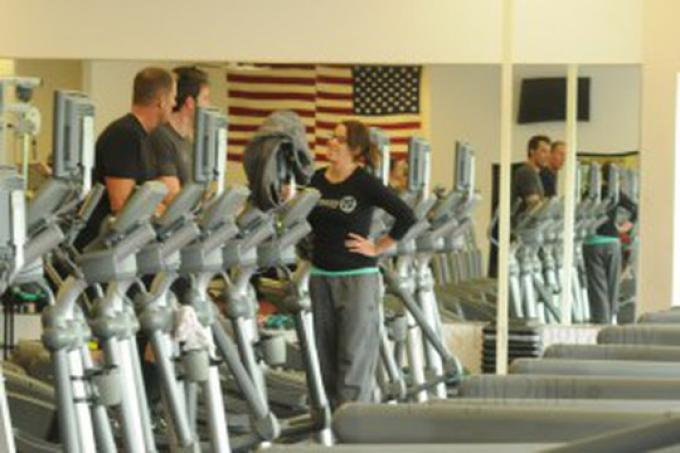 Ben Affleck (Bruce Wayne/Batman) durante un allenamento in una palestra di Royal Oak, sobborgo di Detroit