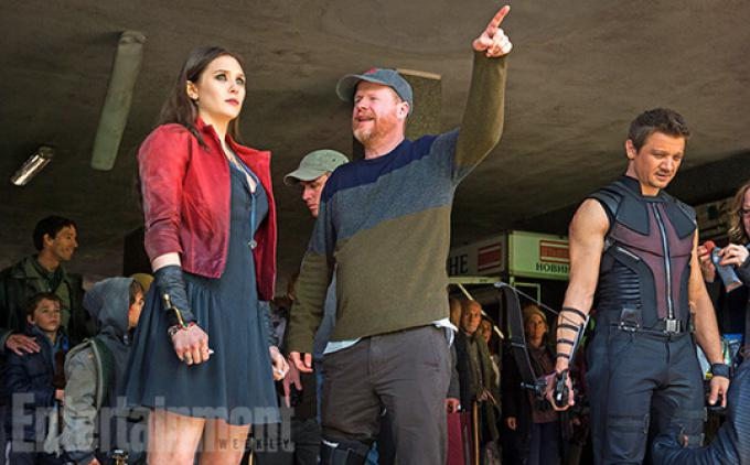 Elizabeth Olsen, Joss Whedon e Jeremy Renner.