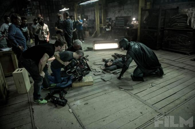 Una foto dal set con Batman (Ben Affleck)