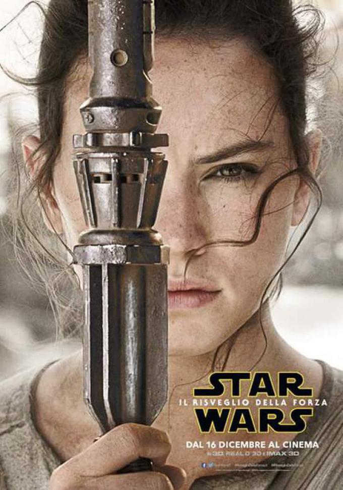 Daisy Ridley nel ruolo di Rey