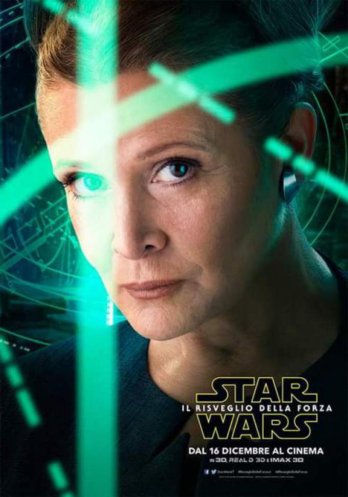 Carrie Fisher è Leia Organa