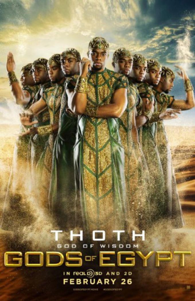 Chadwick Boseman è Toth, il dio della sapienza