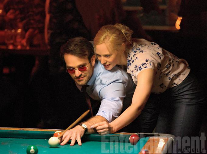 Charlie Cox (Matt Murdock) e Deborah Ann Woll (Karen Page)