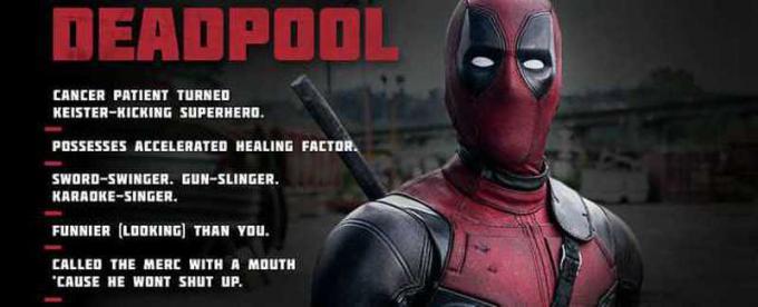 scheda biografica di Deadpool