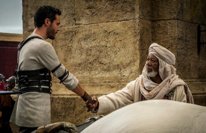 Jack Huston e Morgan Freeman
