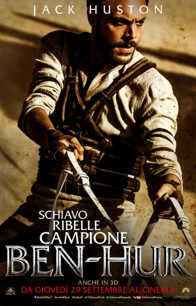 Jack Huston è Giuda Ben-Hur