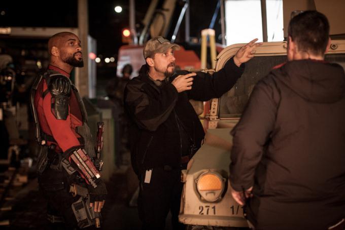 Deadshot (Will Smith) e il regista David Ayer