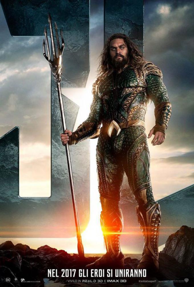 Aquaman (Jason Momoa), poster italiano