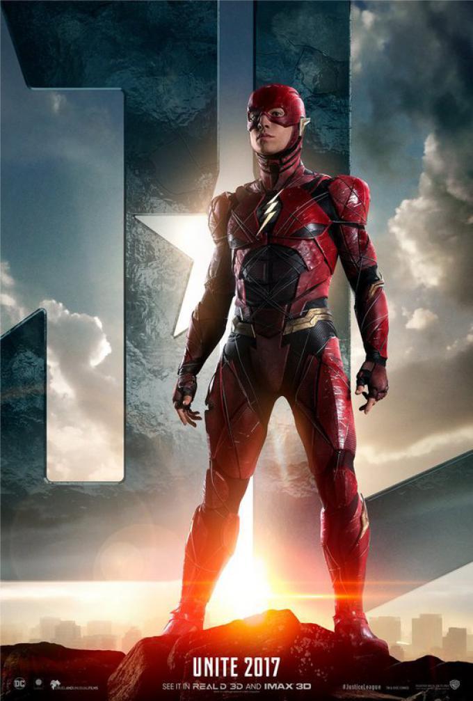 Flash (Ezra Miller), poster americano